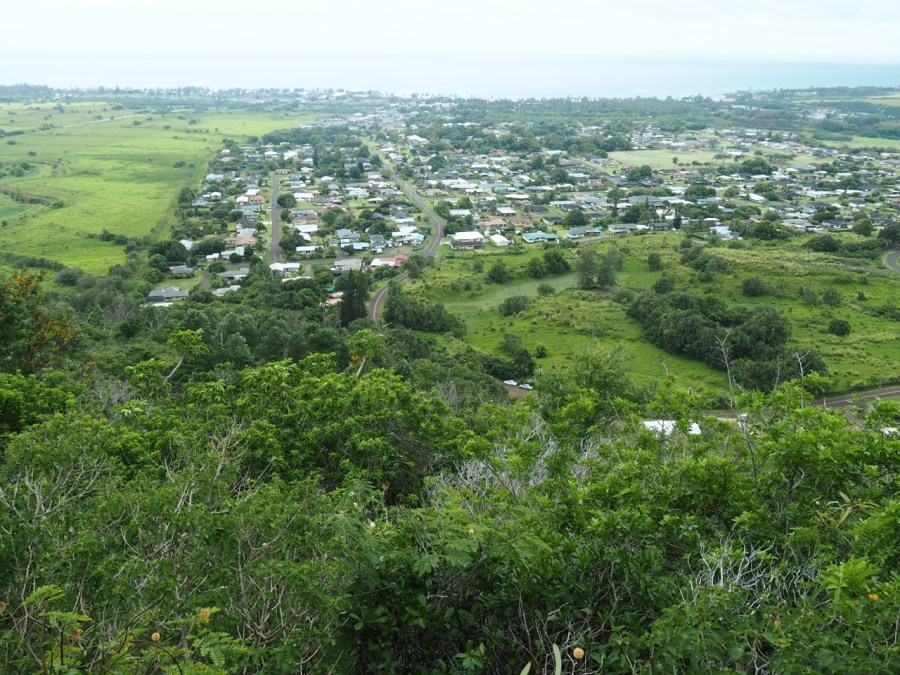 View over the Kapa'a area.