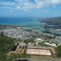 The view from the top of Koko Head Crater