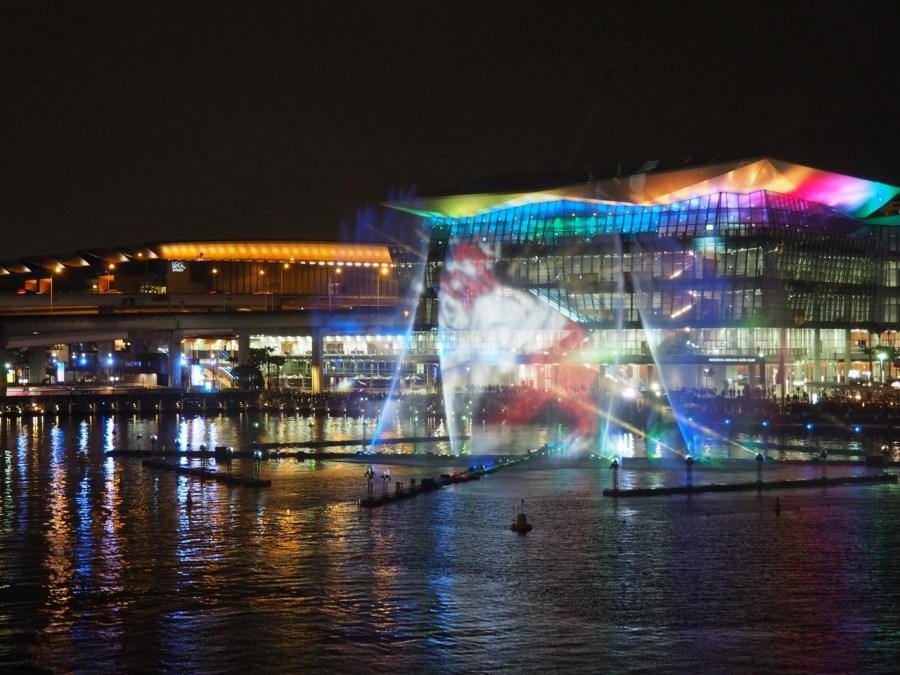 Darling Harbour's light show