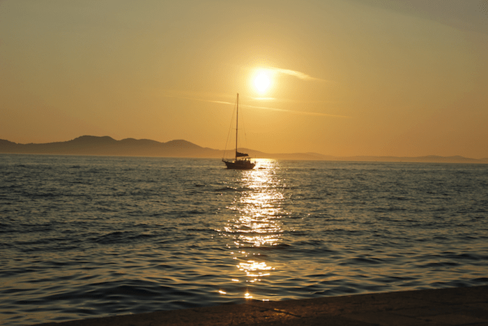 A beautiful Zadar sunset.