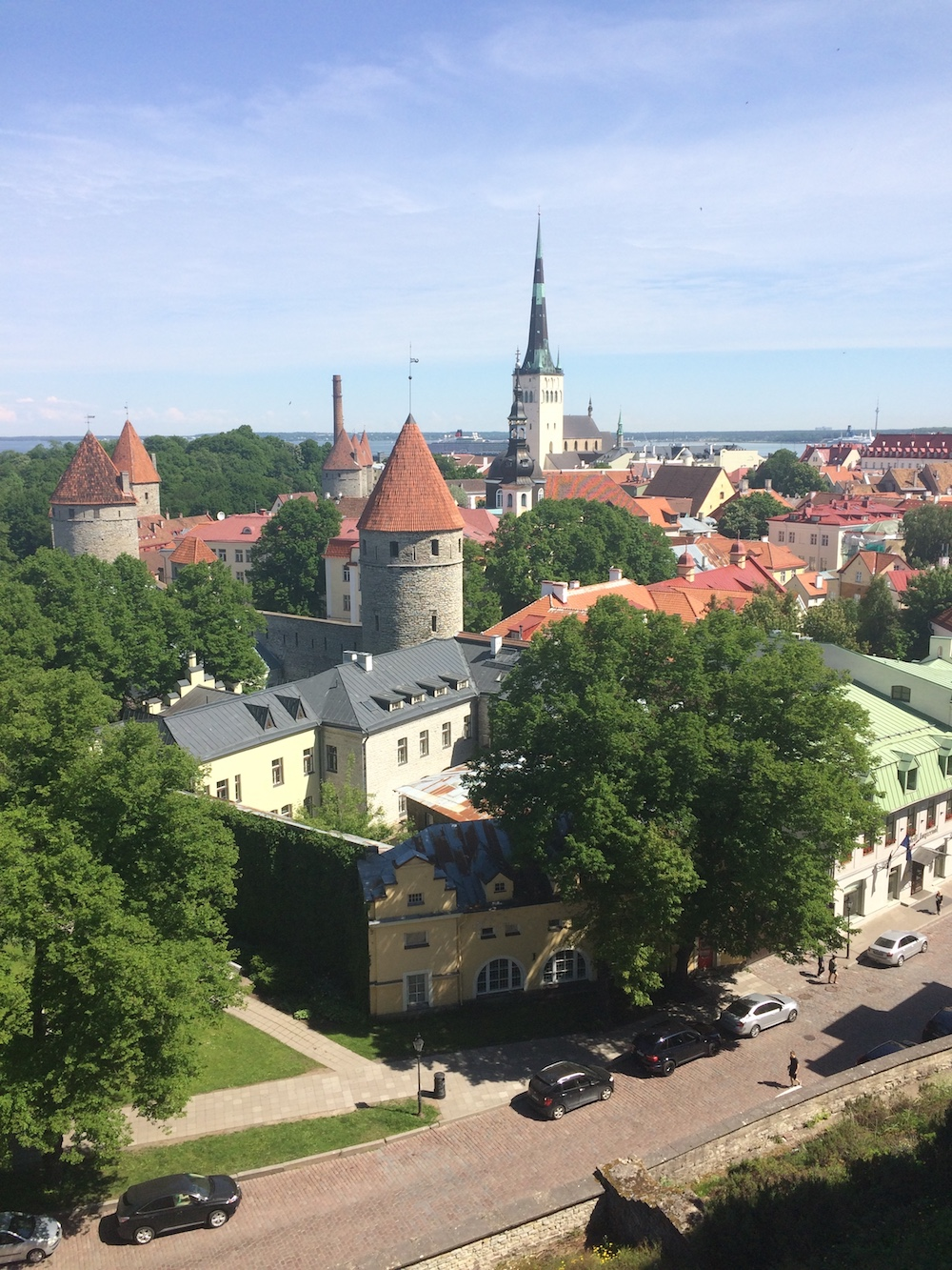 The old town of Tallinn.