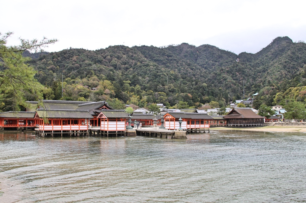 The Itsukushima Shrine complex.