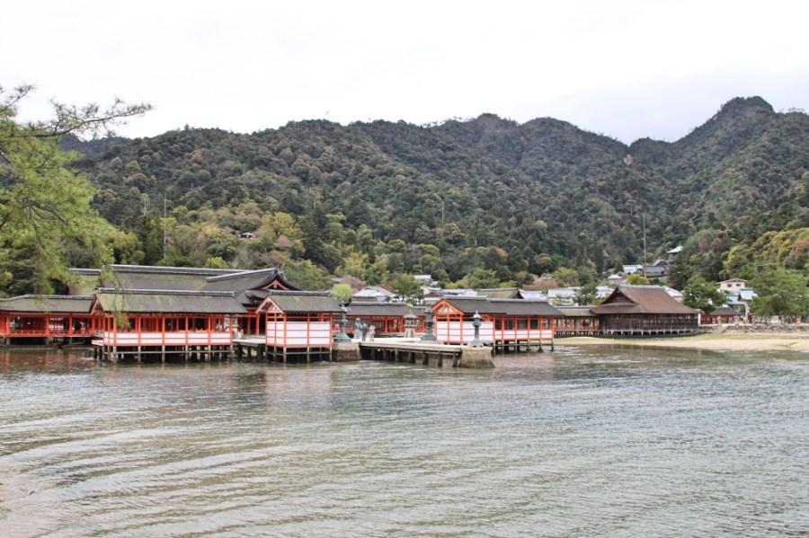 The Itsukushima Shrine complex.
