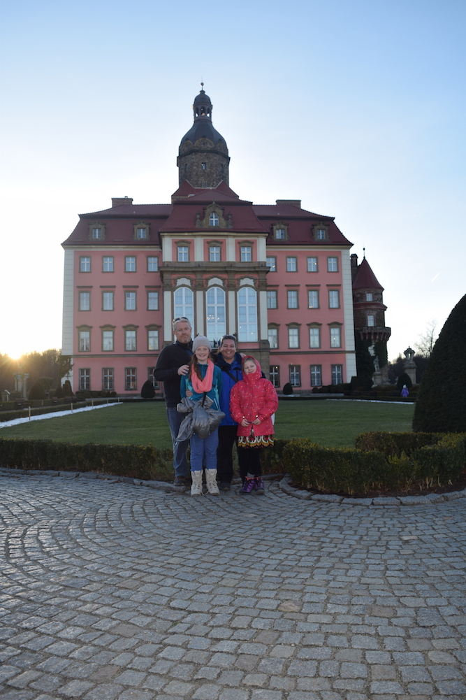 Bec and her family in Poland.