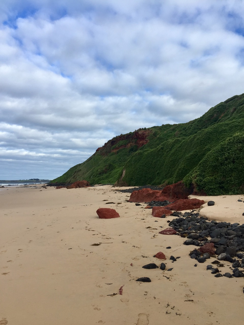 The colourful Surf Beach sand dunes.
