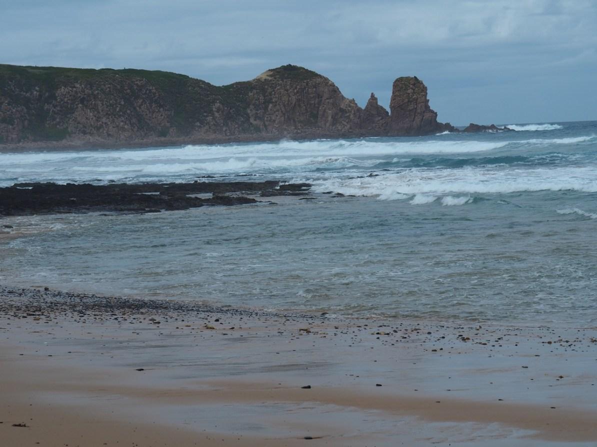 The view of Cape Woolamai from Woolamai Beach.
