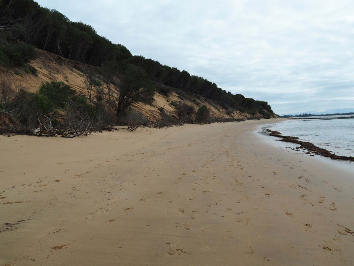 The last stretch of beach.