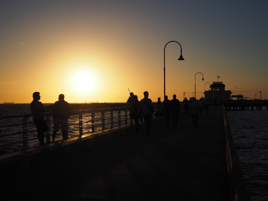 Sunset over St Kilda Pier.