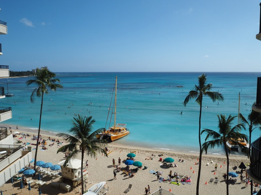 The Outrigger beach Waikiki.