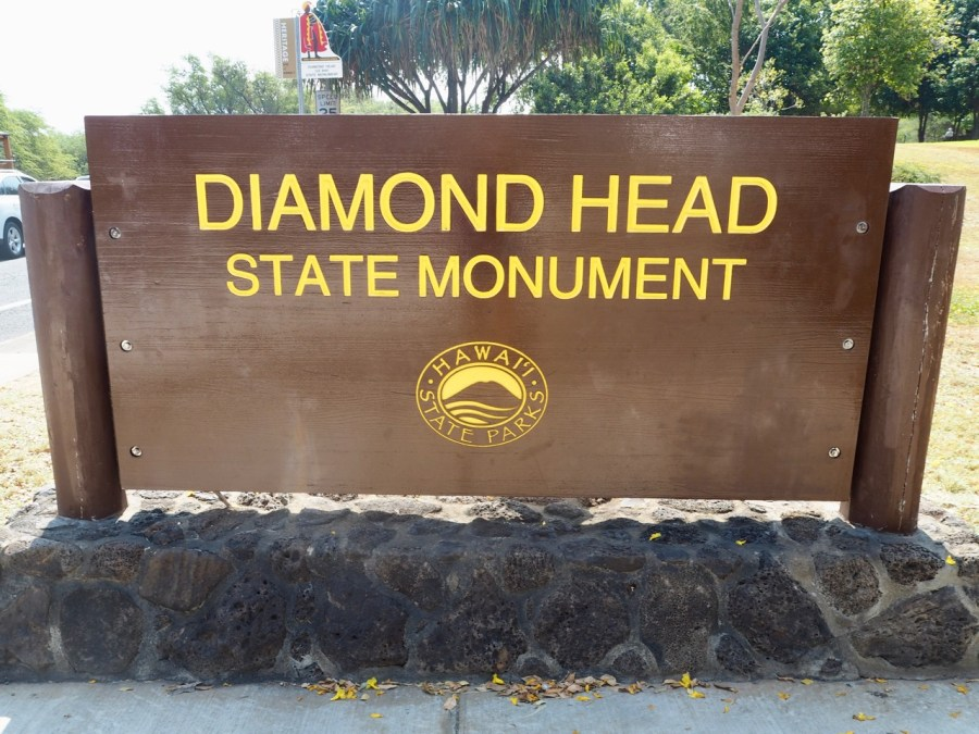 The entrance sign.