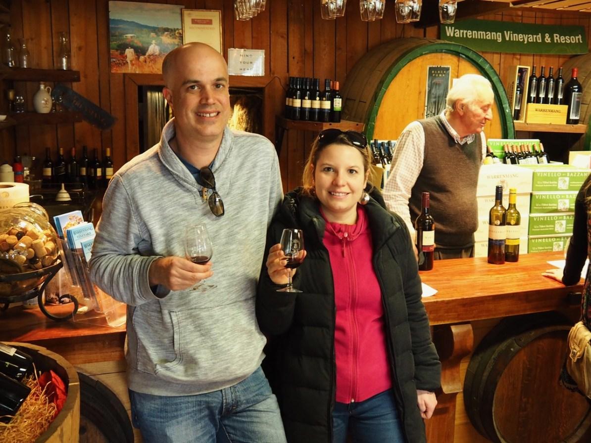 Wine tasting at Warenmang.