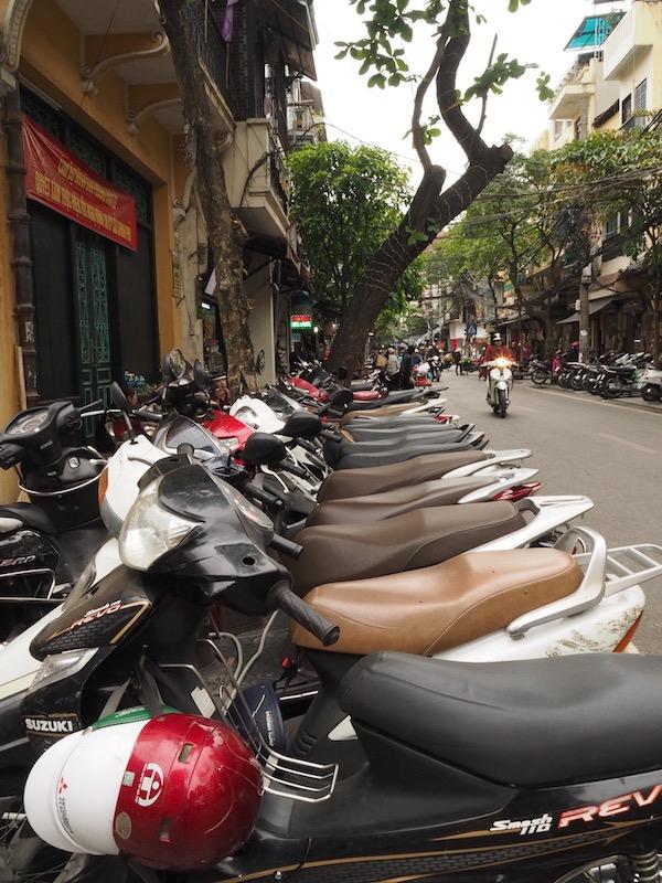 Rows of Motorbikes