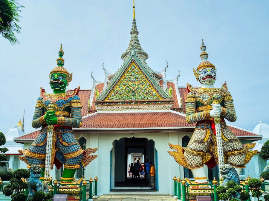 Thailand Temple with Statues