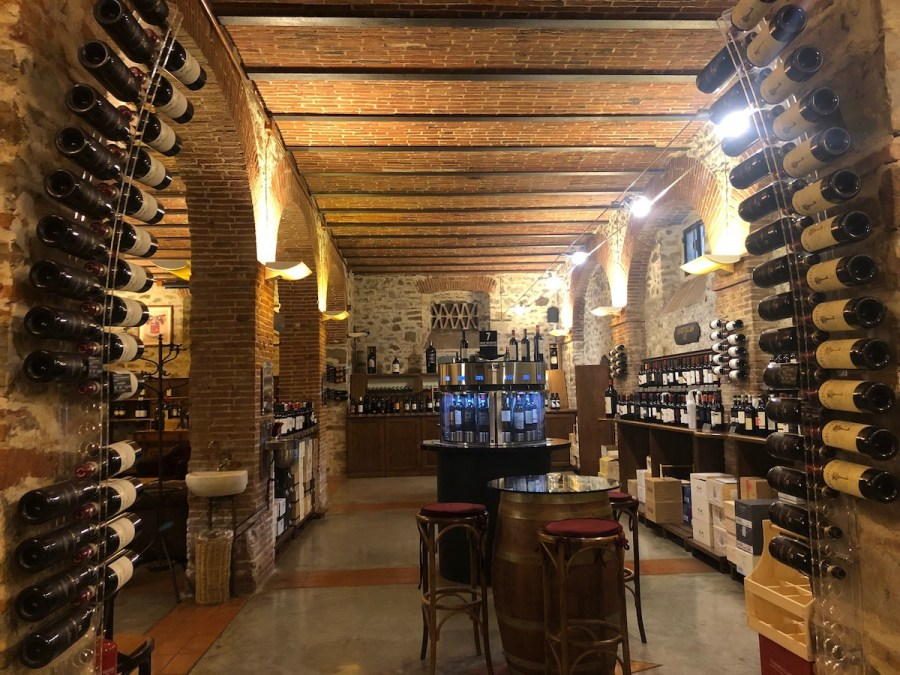Inside an Enoteca