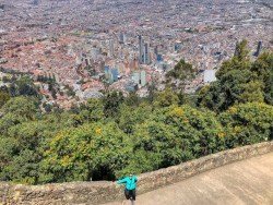 Incredible views from Monserrate hill, Colombia
