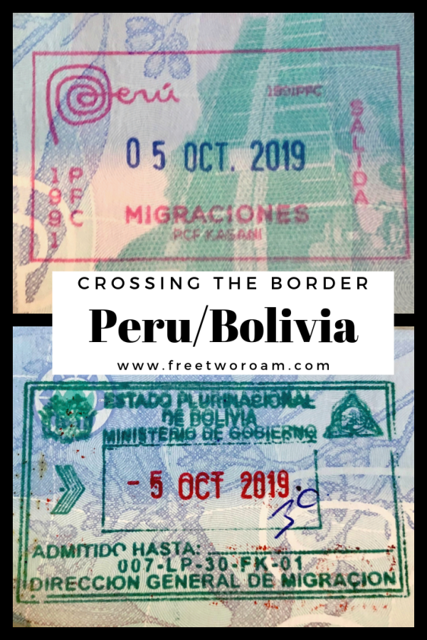 Crossing the Border from Peru to Bolivia