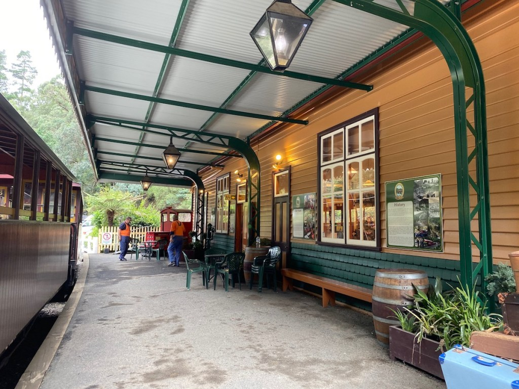 The old train station of Walhalla