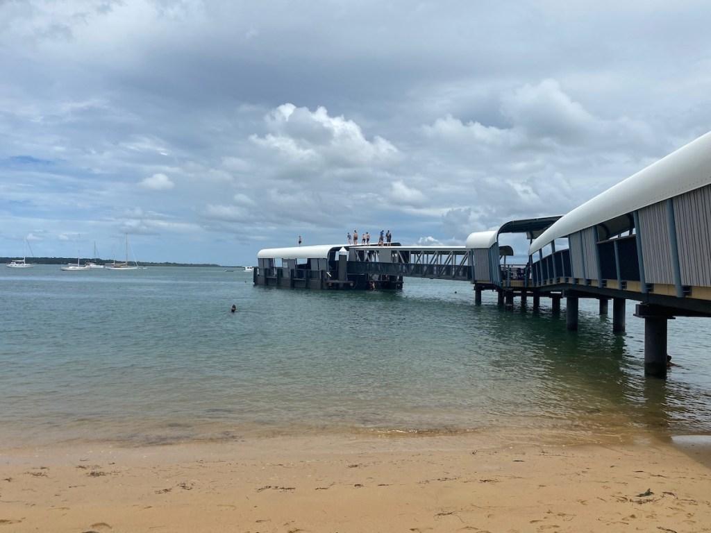 The ferry terminal on Coochiemudlho