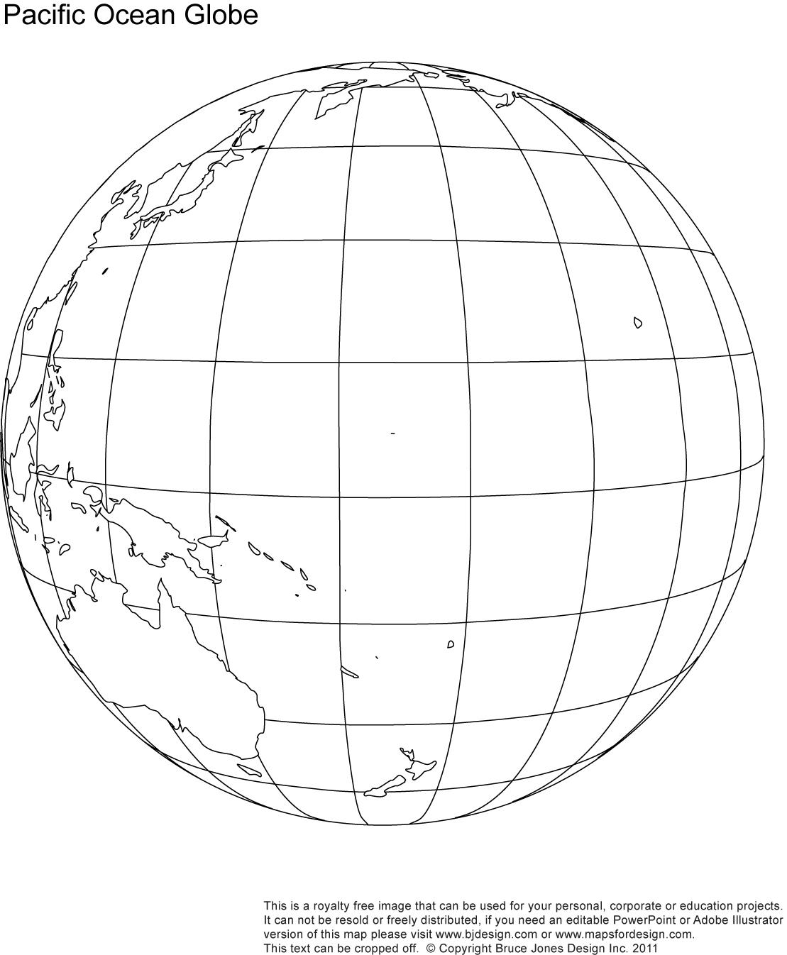 Blank Globe Worksheet