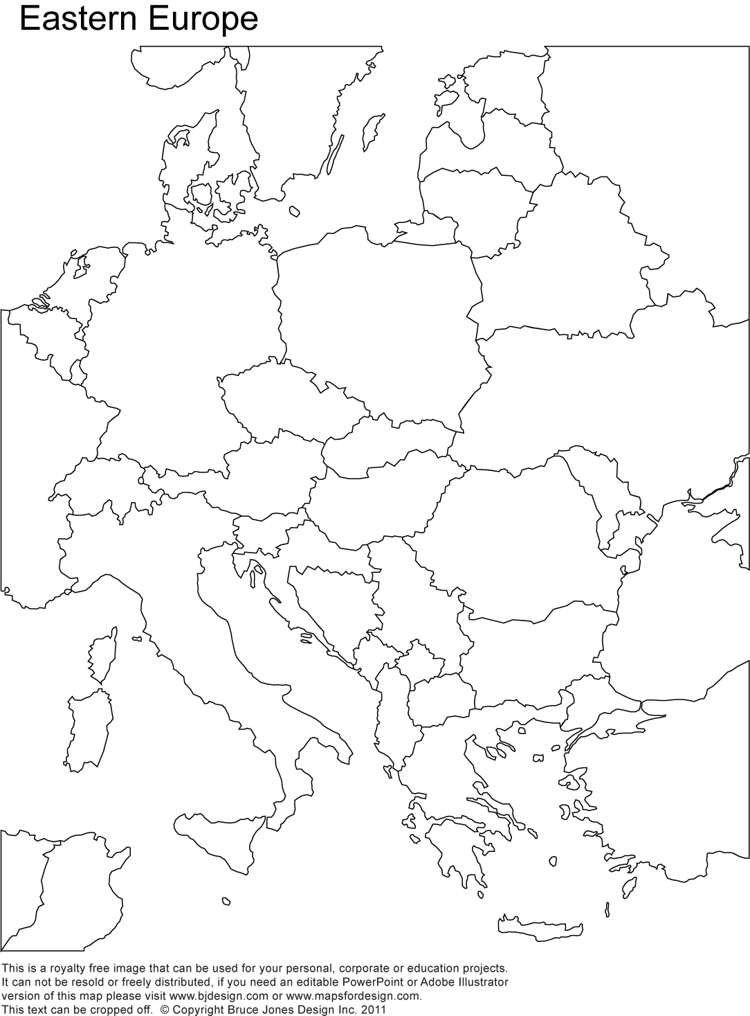 Map Of Europe No Country Names Mapofmap1