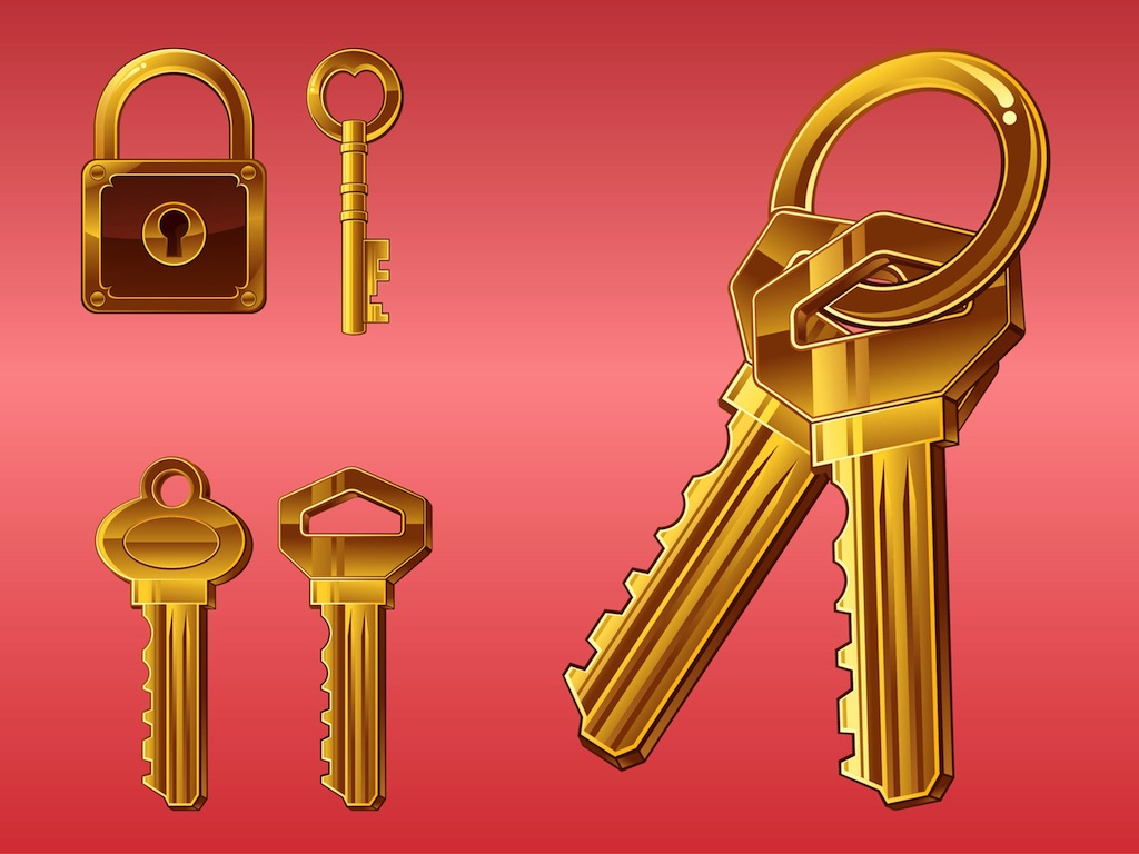 Golden Keys Vector Art Amp Graphics
