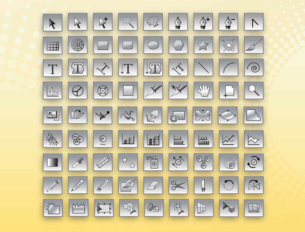 Adobe Illustrator Tools Icons Vector Art Amp Graphics