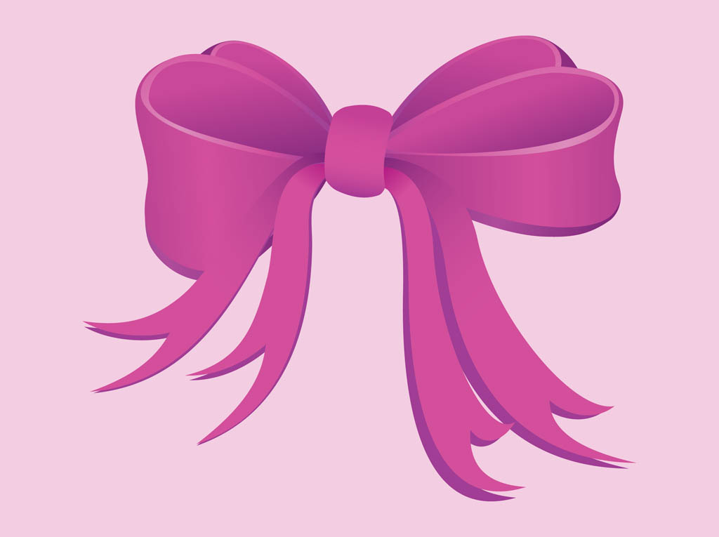Pink Bow Vector Art Amp Graphics