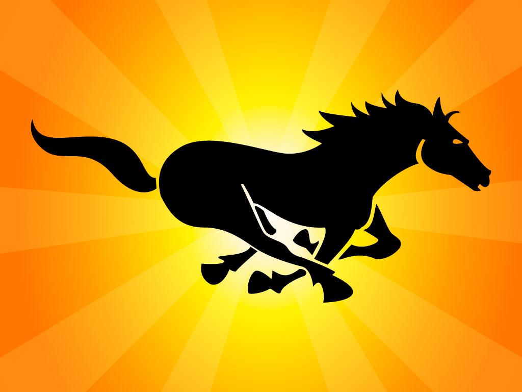 Black Running Horse Vector Art Graphics Freevector Com