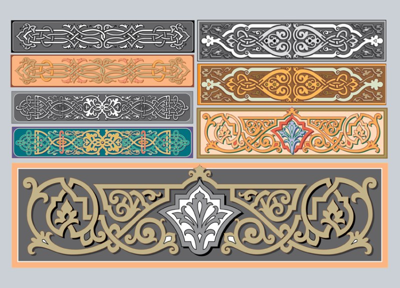 Art Nouveau Ornaments Vector
