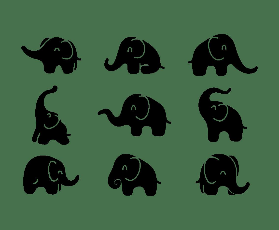 Elephant Silhouette Icon Vector Art Amp Graphics