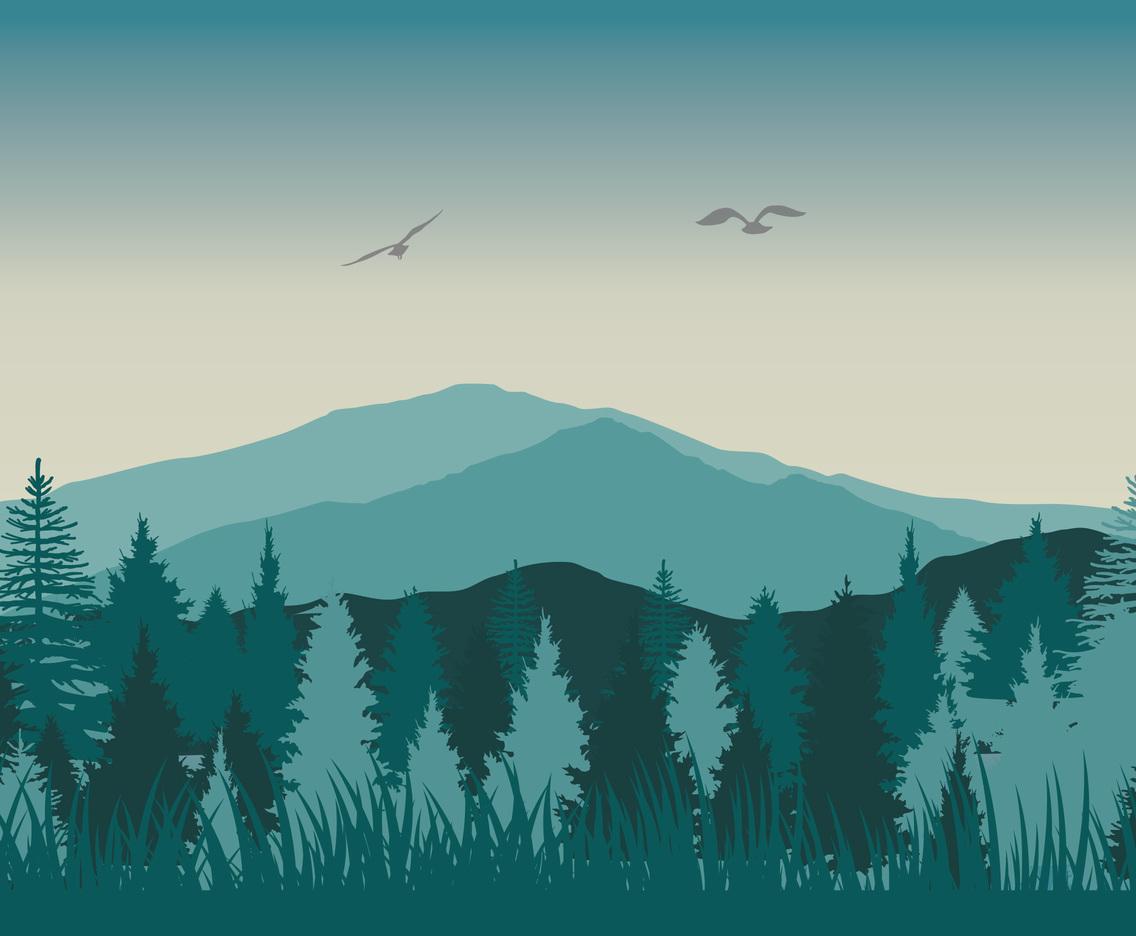 Cartoon Landscape Simple