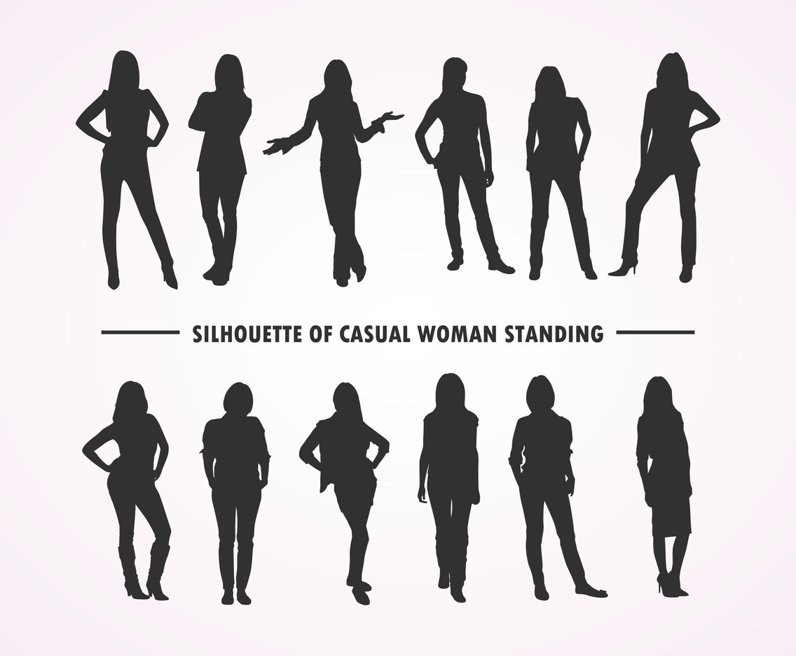 Silhouette Woman Vector Art Amp Graphics