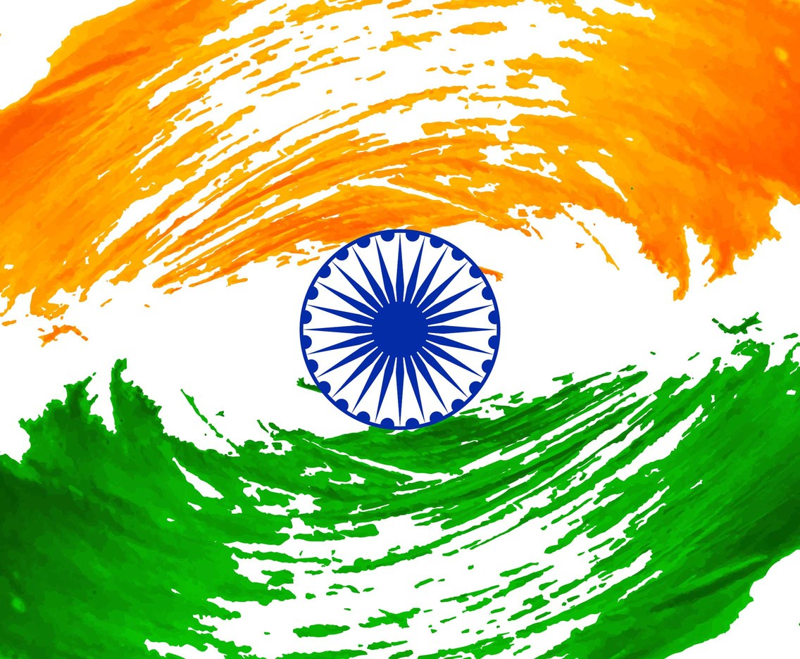 Free Vector Modern Indian Flag Background Vector Art Graphics Freevector Com