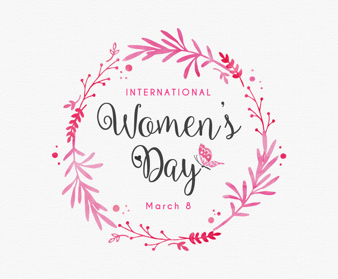 Women S Day Design Card Template Vector Art Amp Graphics
