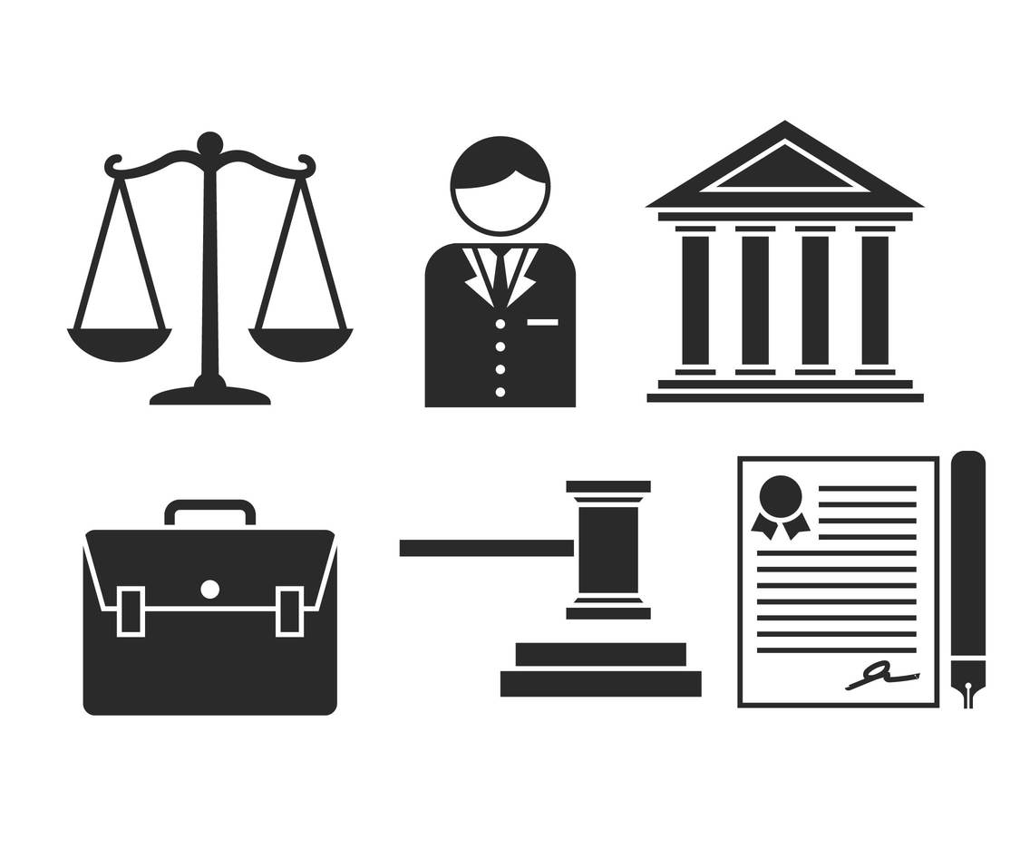 Lawyer Vector Icon Set Vector Art Amp Graphics