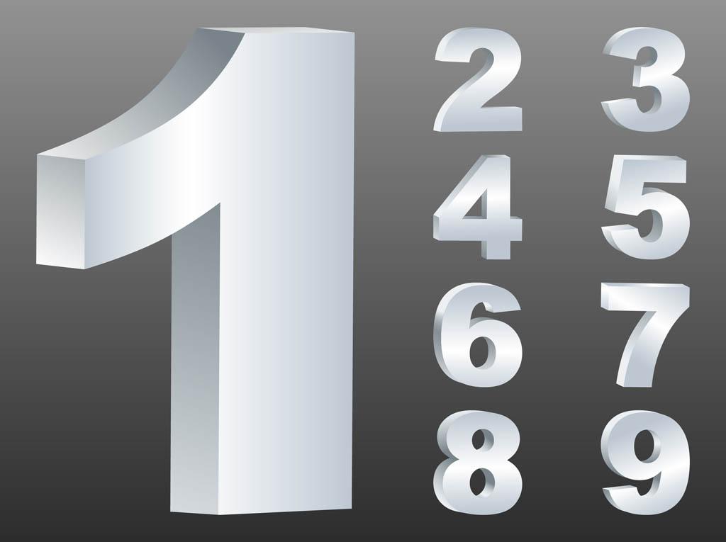 Download Silver Numbers Vectors Vector Art & Graphics | freevector.com