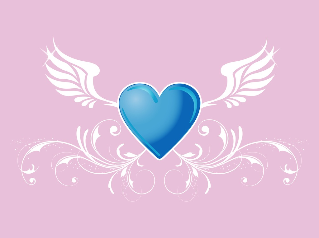 Heart With Wings Vector Art Amp Graphics