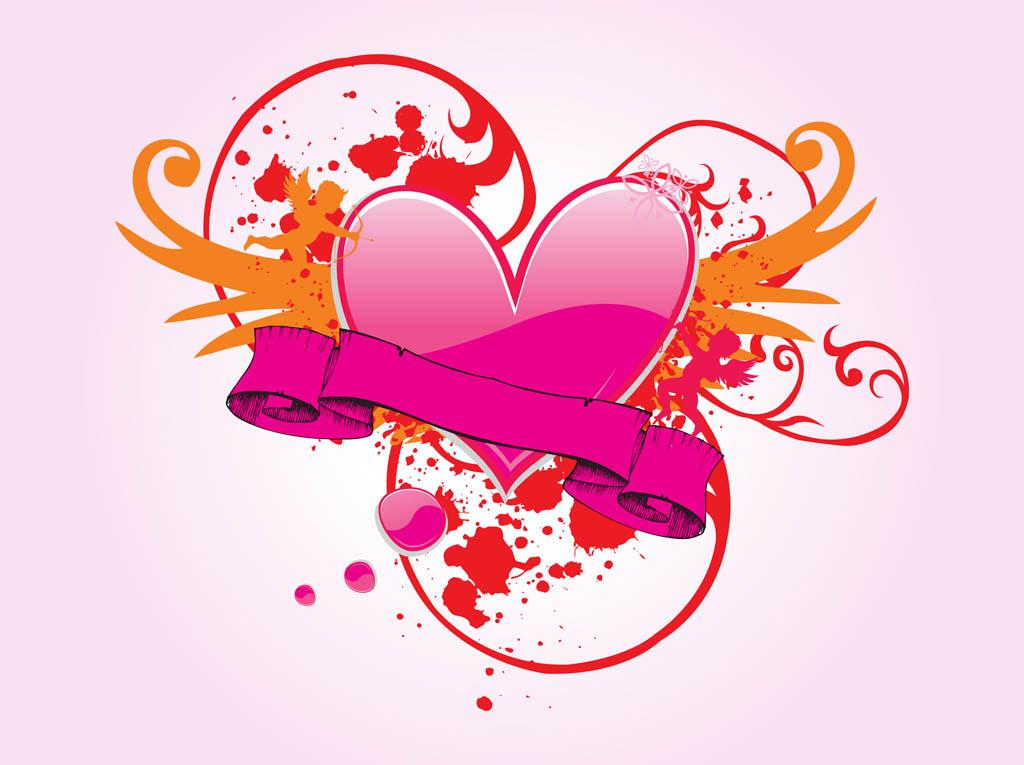 Valentines Heart Design Vector Art Amp Graphics