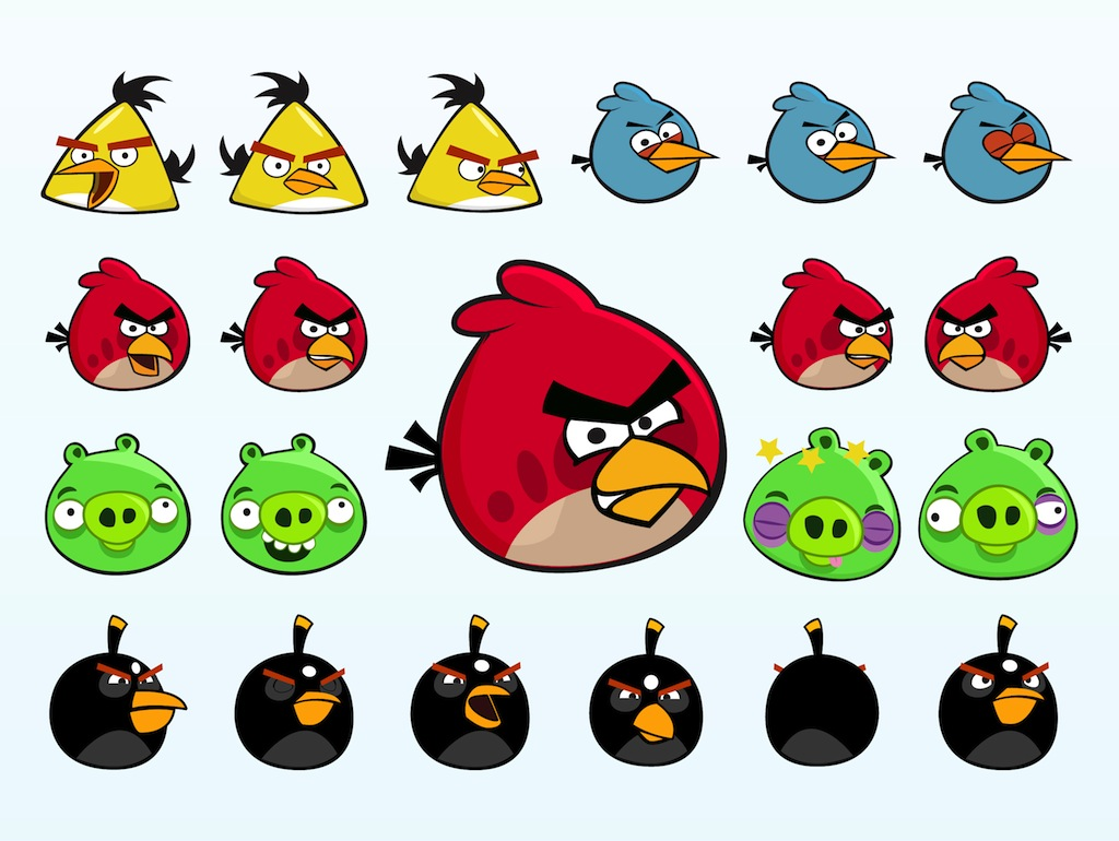 Angry Birds Characters Vector Art Amp Graphics