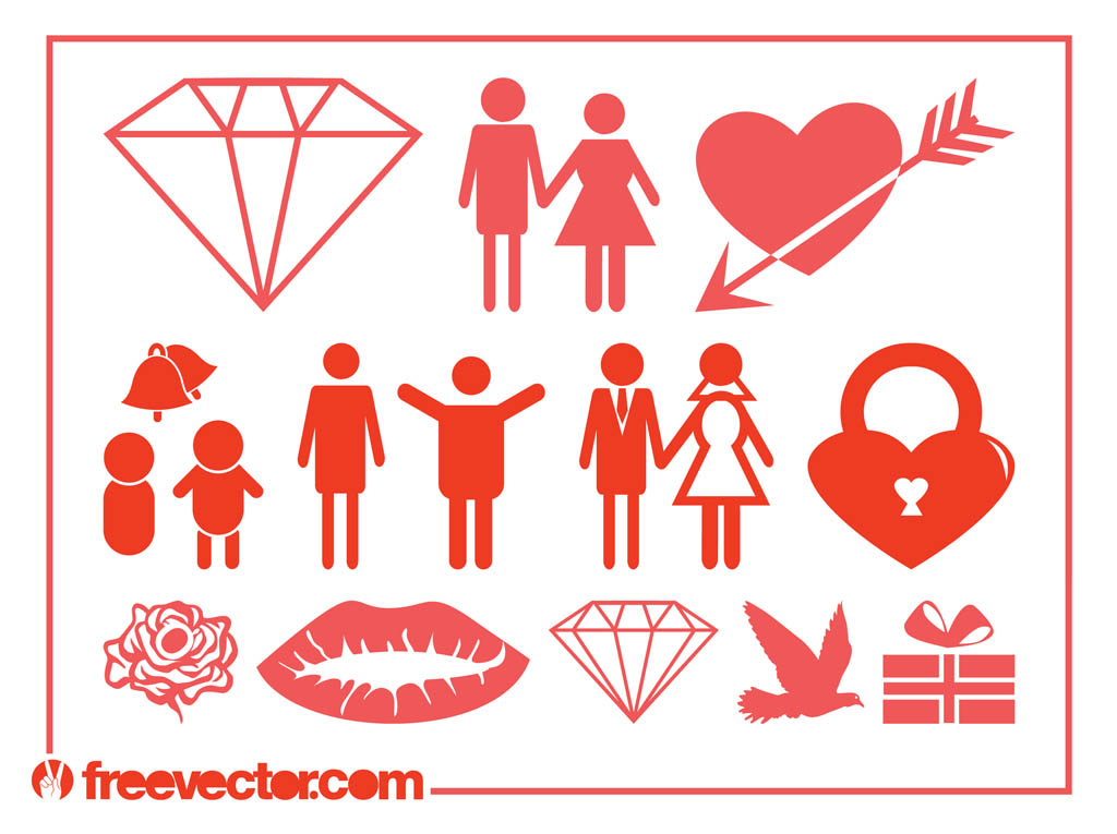 Download Marriage And Love Icons Vector Art & Graphics   freevector.com