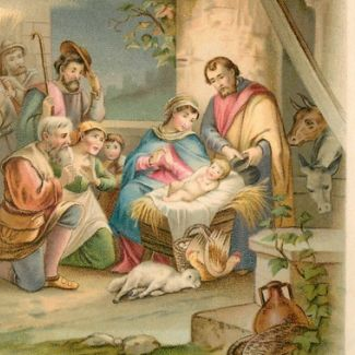 Holy Nativity Image From Free Vintage Art