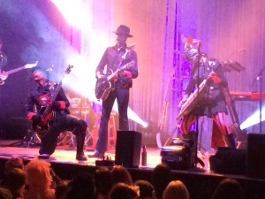 Steam Powered Giraffe performs on March 14, 2014 in San Diego