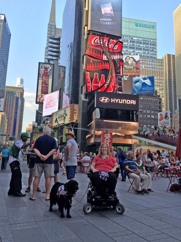 Times Square NYC Wheelchair accessibility information.