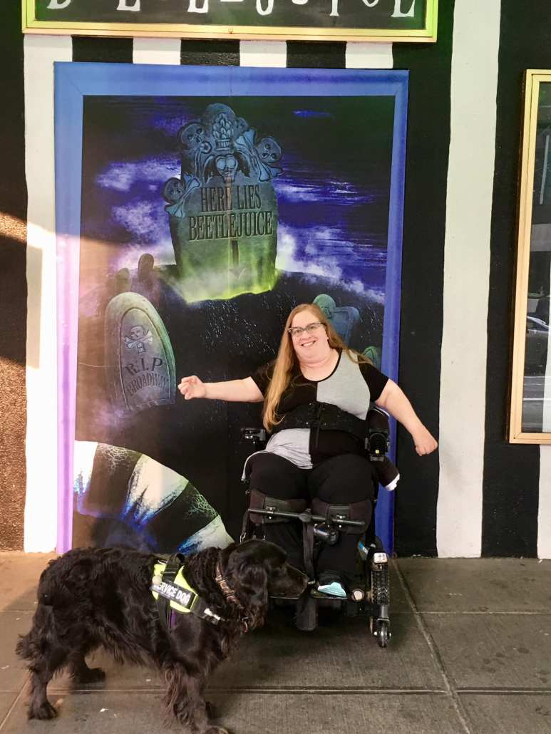 Disability information -- seeing a wheelchair accessible Broadway musical