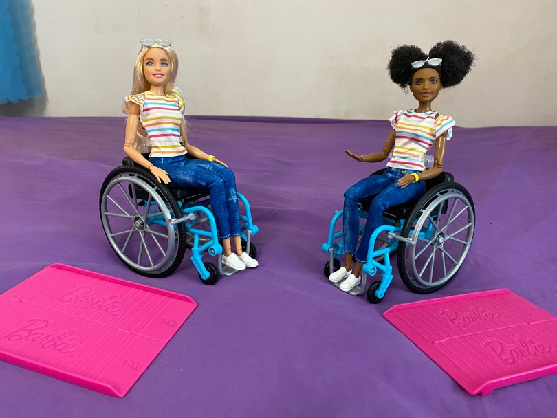 Wheelchair Barbie 2019, comes in Caucasian and African-American versions.