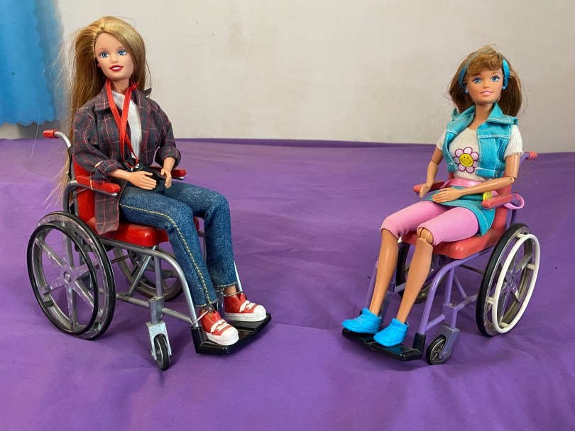 Mattel classic wheelchair Barbie - Share a Smile Becky and I'm the School Photographer Becky.