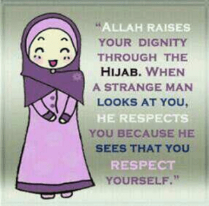 Allah raises your dignity through the hijab