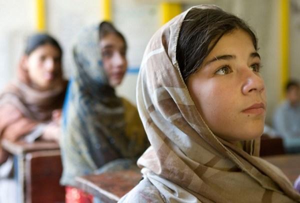 Afghan girl-at school-Afghanistan