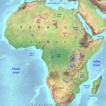 Geographical Map Of Africa