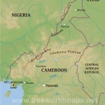 Cameroon Physical Map